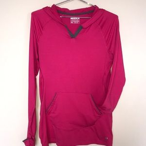 Layer8 Qwick-Dry Pink Workout Hoodie Size Medium